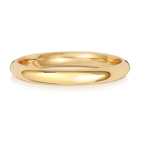 9ct Yellow Gold 2mm Heavy Court Wedding Ring
