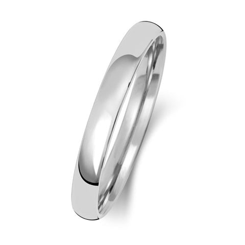 18ct White Gold 2mm Light Court Wedding Ring
