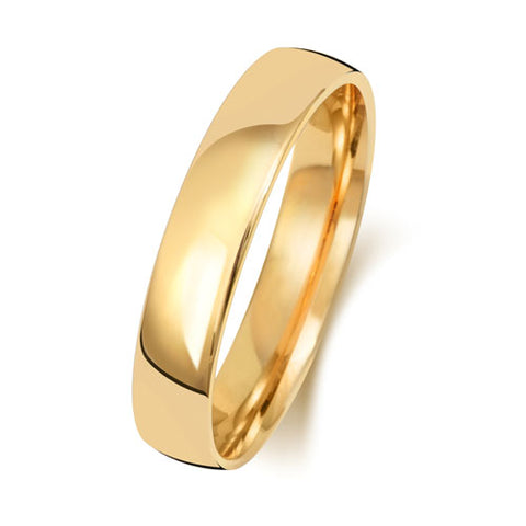 18ct Yellow Gold 4mm Light Court Wedding Ring