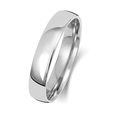 Platinum 600 5mm Heavy Court Wedding Ring