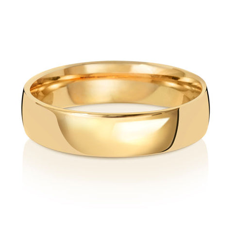 18ct Yellow Gold 5mm Heavy Court Wedding Ring