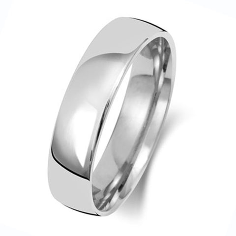 Platinum 600 6mm Light Court Wedding Ring