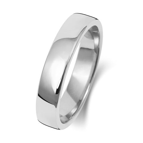 18ct White Gold 4mm Heavy Court Wedding Ring