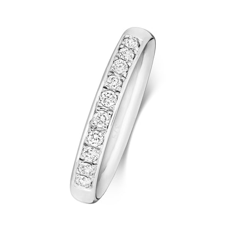 Ladies 9ct white gold Diamond set  Wedding Ring