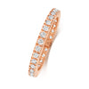 rosegold ladies diamond set wedding ring