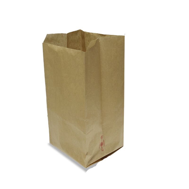 Foodpack.green: Sacchetto in carta kraft avana millerighe 12x28