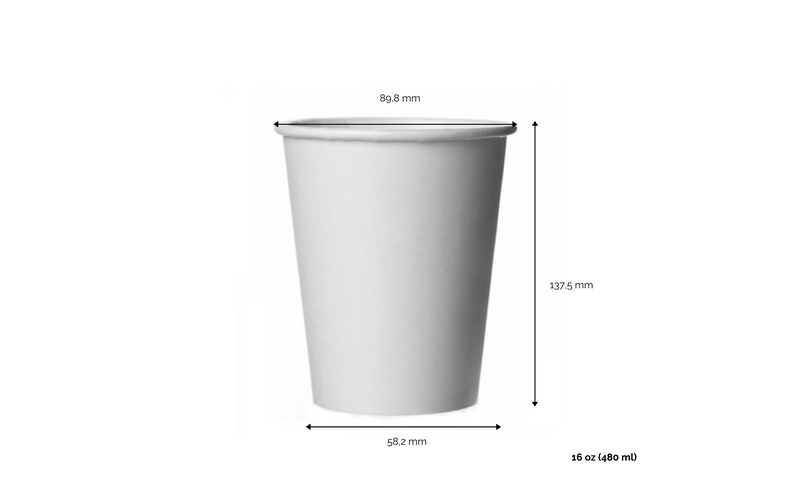 foodpackgreen: Bicchiere caffè  White in carta riciclabile 16oz