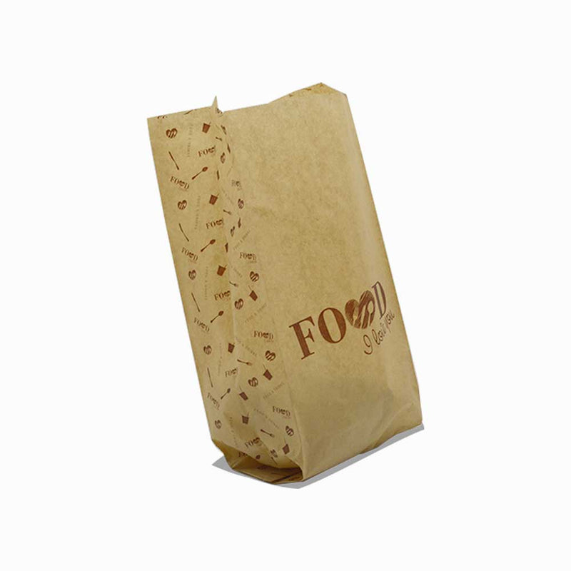 "Foodpack.green: Sacchetto in Carta ""Food I Love You"" 12x28 cm"