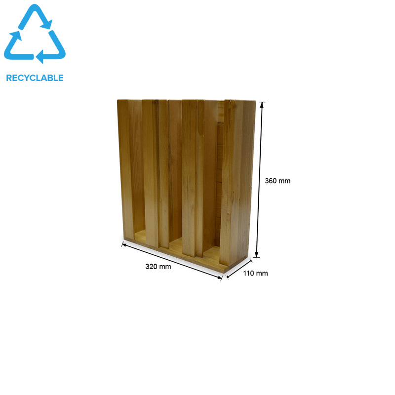 Foodpack.green: Dispenser Legno - 3 Scomparti