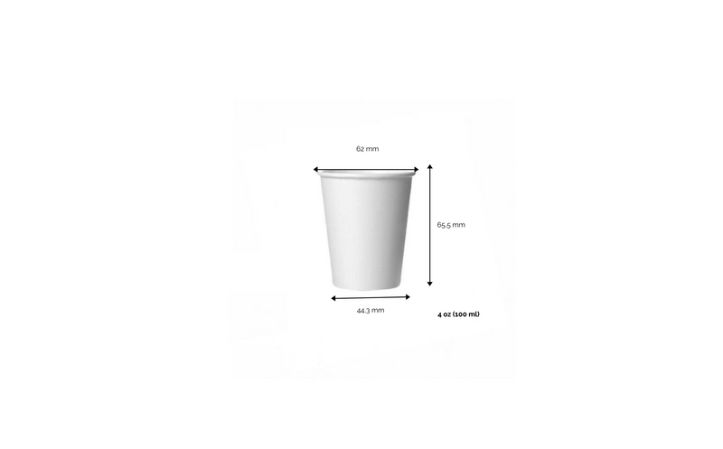 foodpackgreen: Bicchiere caffè  White in carta riciclabile 4oz