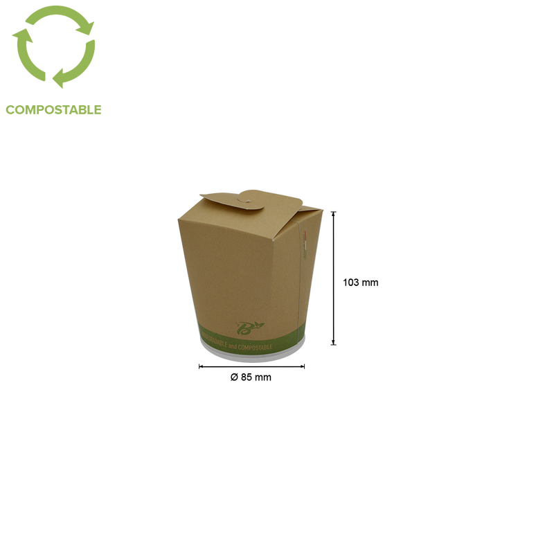 Foodpack.green: Food Cup Take Away 500 ml biodegradabile compostabile