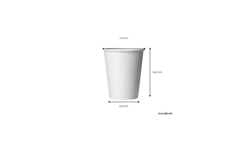 foodpackgreen: Bicchiere caffè  White in carta riciclabile 6oz