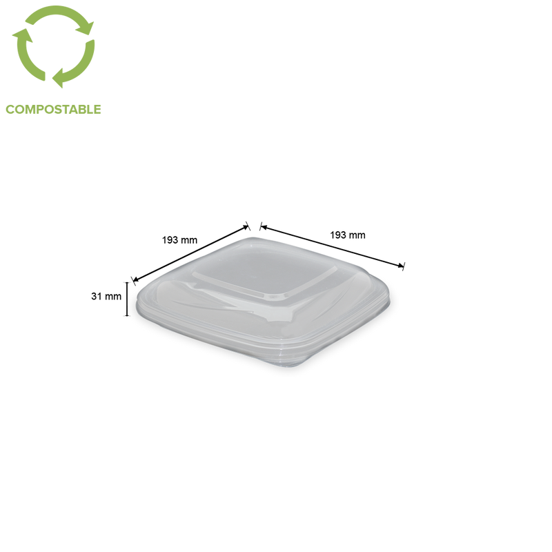 Foodpack.green: Coperchio CV in PLA 19x19 cm
