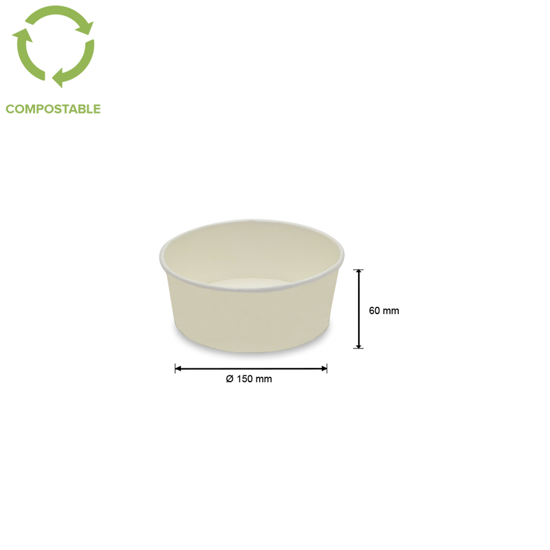 Foodpack.green: Fondina in cartoncino bio 800 ml