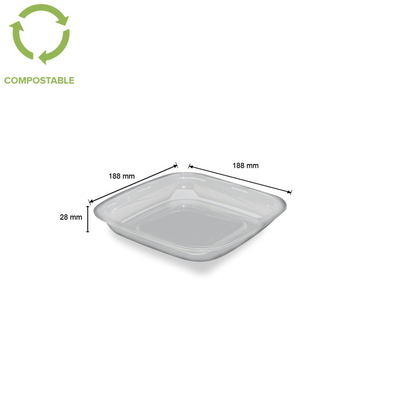 Foodpack.green: contenitore insalatiera trasparente in pla 500ml biodegradabile compostabile