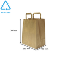 Foodpack.green: Shopper in carta kraft avana fondo largo Small
