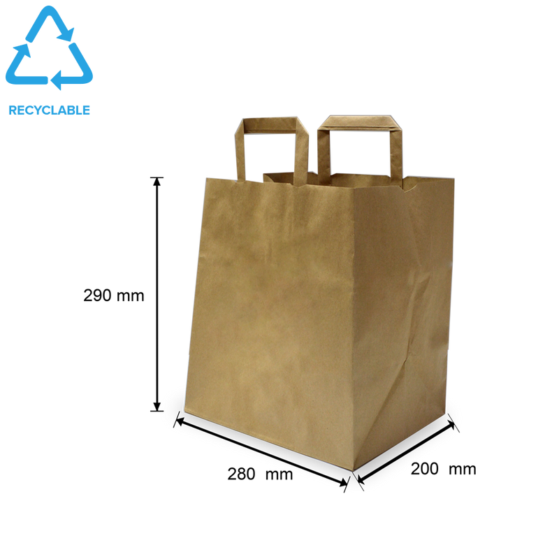 Foodpack.green: Shopper in carta kraft avana fondo largo Medium