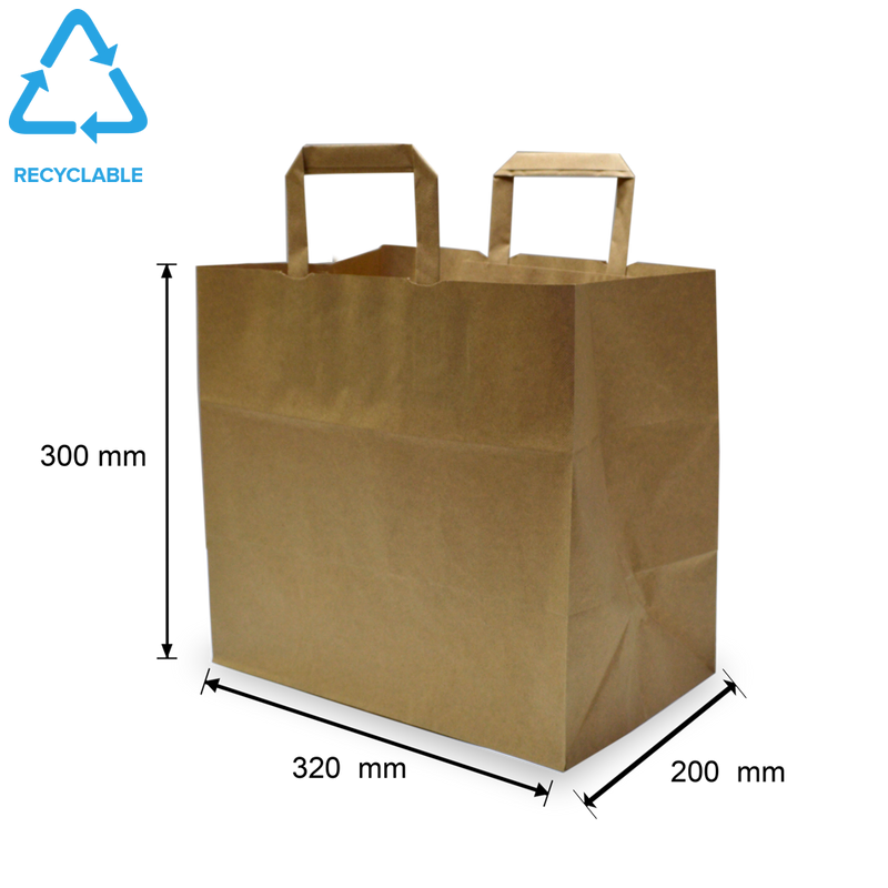 Foodpack.green: Shopper in carta kraft avana fondo largo Large