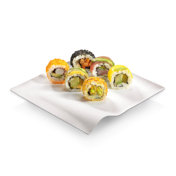 Foodpack.green: Piatto Quadrato Onda 15x15 Finger Food