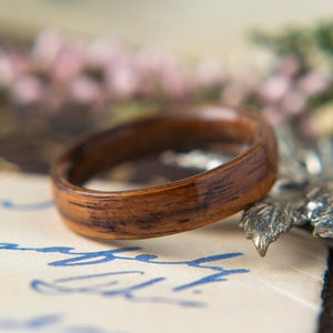 Womens Wedding band in Santos Rosewood.