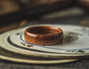 Mens Wedding band made from Santos Rosewood and 2 Copper inlays. - ringandgrove