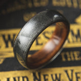 Mens Wedding band made from Santos Rosewood and Grey Maple - ringandgrove