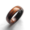 Mens Wedding band made from Santos Rosewood - ringandgrove