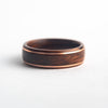 Mens wedding band made from santos rosewood with 2 copper wires