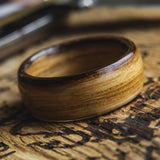 Mens Wedding band made from Whisky Barrel - ringandgrove