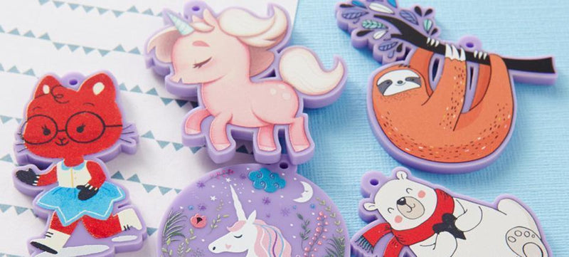 How to create printed opaque acrylic charms using Paint Tool SAI