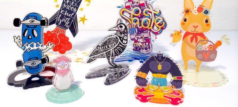 Create your own printed clear acrylic standees
