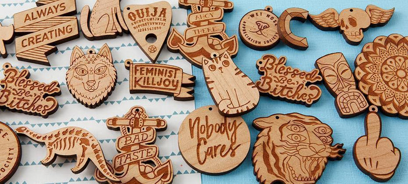 How to create engraved wooden charms using Adobe Photoshop