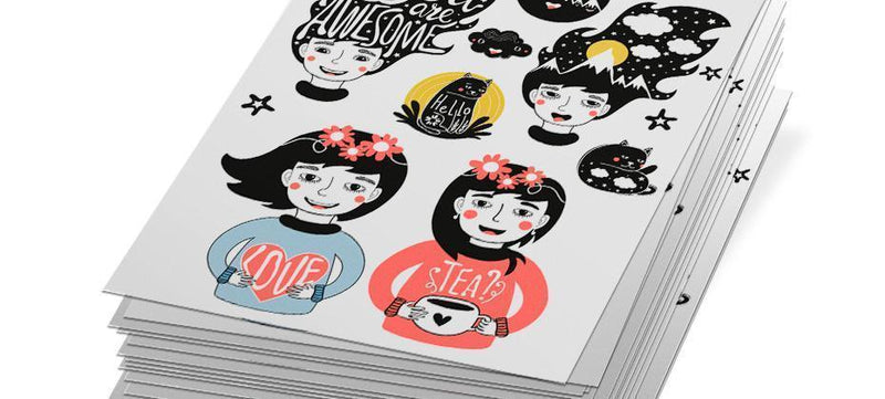 How to create custom sticker sheets using Photoshop