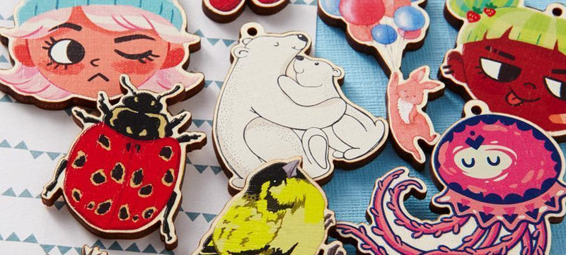How to create printed wooden charms using Paint Tool SAI