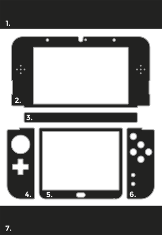 Nintendo 3DS XL Gamer Skins Layout