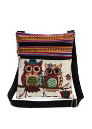 Owl Jacquard Straddle Bag