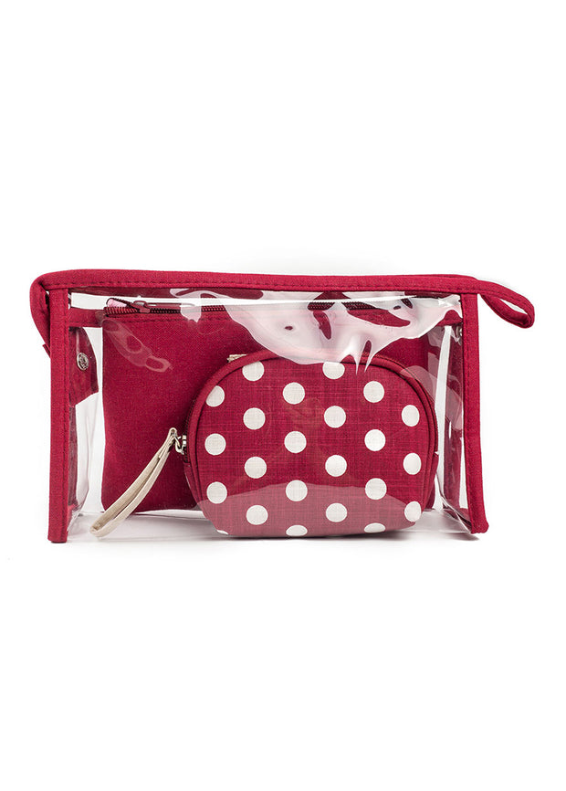 Point transparent PVC wash bag