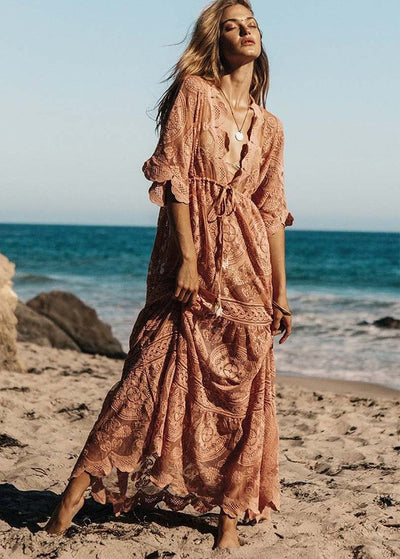 Loose Lace Maxi Dress