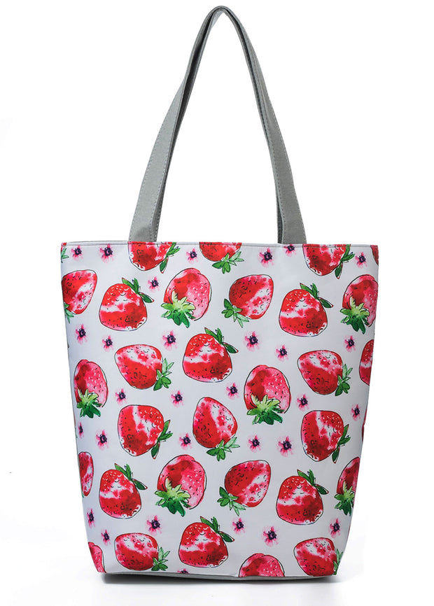 Ethnic Fruit Printed Cloth Handbag