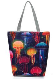 Ethnic Jellyfish Printed Handbag