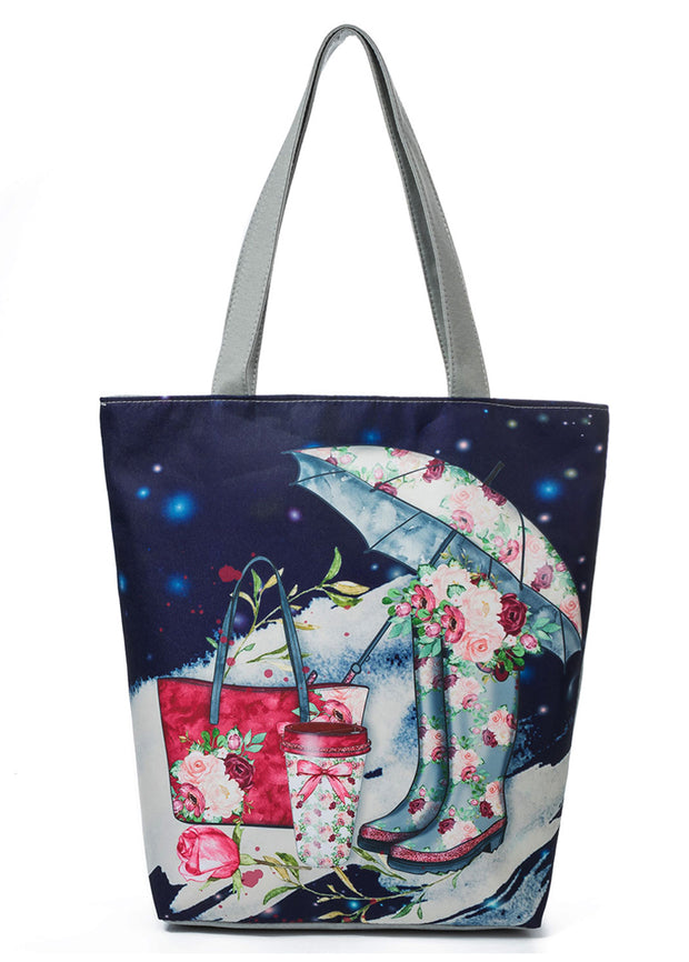 Umbrella And rainshoe Pattern Handbag
