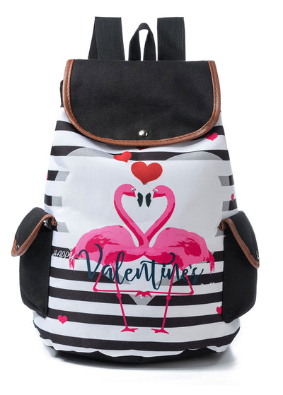 Flamingo Love Stripe Bags