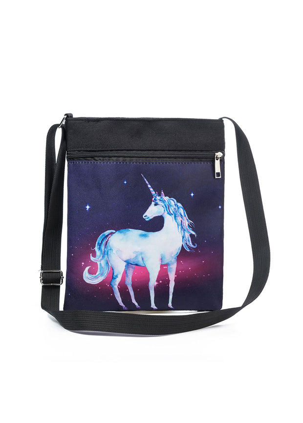 National Wind Cartoon Star Unicorn Bag