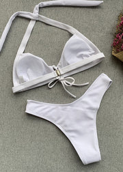 Lace-up Triangle Bikini Set