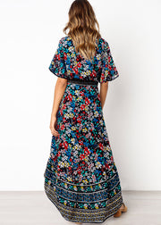 Bohemian Printed Front Button Dress