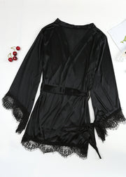 Long-sleeved Chiffon Nightgown
