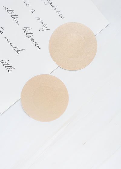 Satin Paper Adhesive  Invisible  Pasties- Round Shape