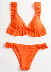 Frill Top With Tanga Bottom Bikini Set