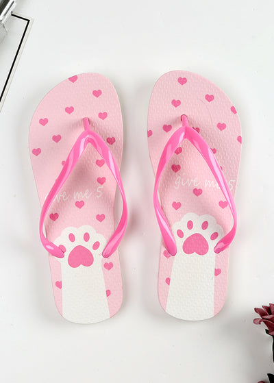 Lovely Cartoon Footprints Beach Slippers