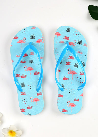 Lovely Flamingo printed Beach Slippers